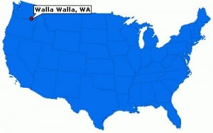 map of Walla Walla, WA