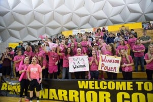 Warriors at Basketball Game
