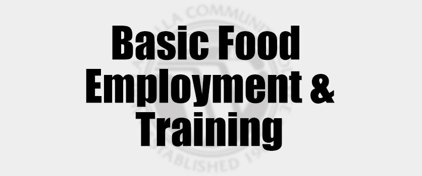 Basic Food Employment & Training Name Plaque